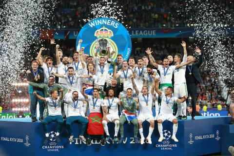 El Real Madrid celebra la Champions League 2018.