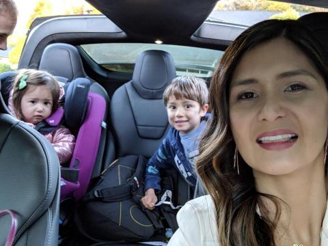 Rincon drives her kids to school — and they both love to request songs during the ride, she said.