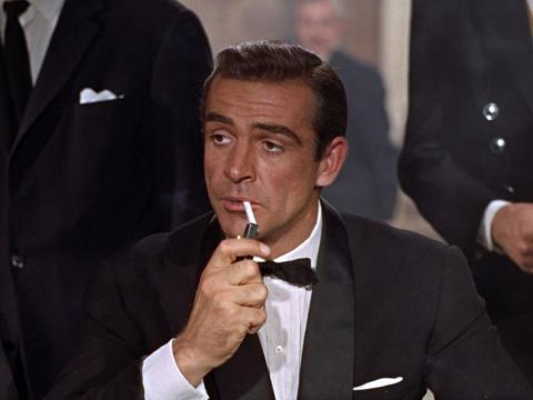 Sean Connery as the original movie James Bond.
