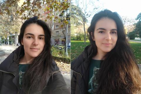 Selfies para probar la calidad de la cámara del Mi MIX 3.