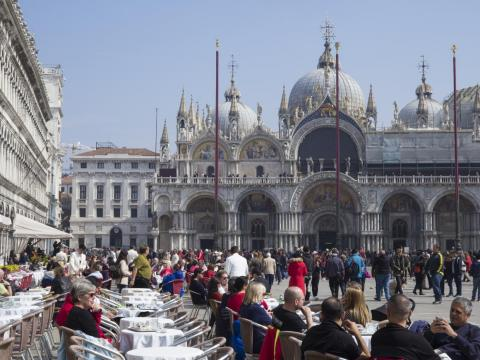 "A similar incident occurred in August, when a café customer said he was charged nearly $50 for two coffees and a water. Part of the bill ended up being a surcharge for sitting in the ""sunniest"" corner of Piazza San Marco."