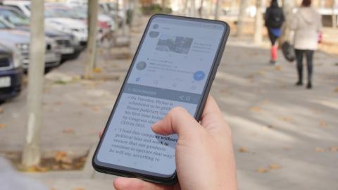 Slit screen en el Xiaomi Mi MIX 3.