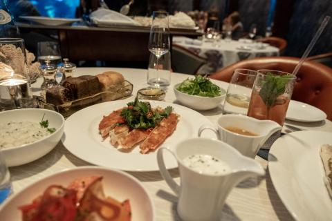 The star of the meal wasn't even one of the dishes, but the sauce that came on the side. The vividly orange Porthilly Crab sauce, a classic concoction used at all of Outlaw's restaurants, tastes like a buttery seafood bisque. If