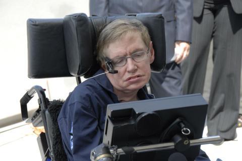 Stephen Hawking, en la NASA.