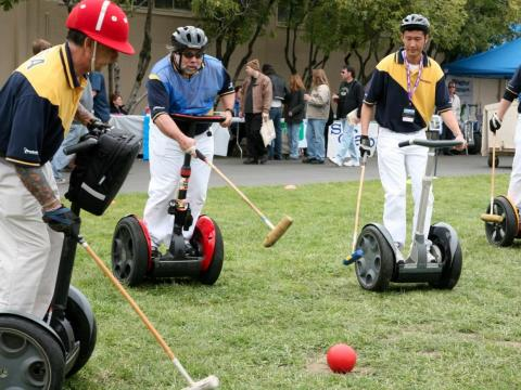 Steve Wozniak plays polo ... on a Segway