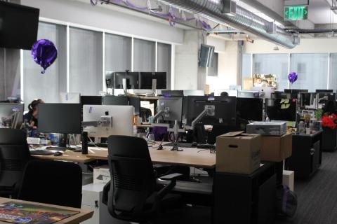 Una vista de las oficinas de Twitch en San Francisco, de 2018.