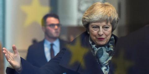 Theresa May arrives in Berlin to discuss Brexit with German Chancellor Angela Merkel, 11 December 2019