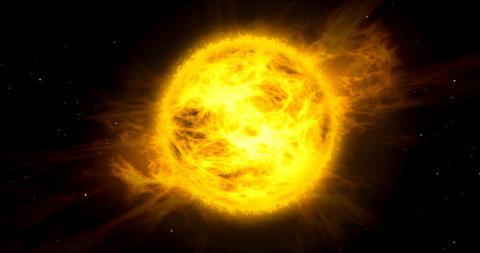 Una tormenta de radiación en la superficie del Sol