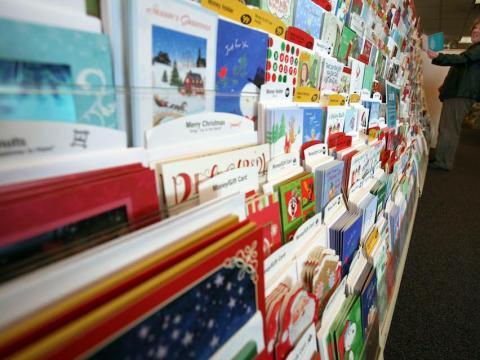 Una selección de postales de navidad.