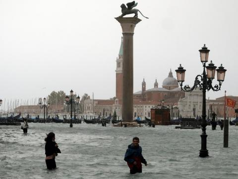 Venice frequently floods, but at the end of October 2018, Italy was hit by a series of intense storms that left three-quarters of Venice submerged. At least 11 people died in Italy in the country's worst flooding in a decade.
