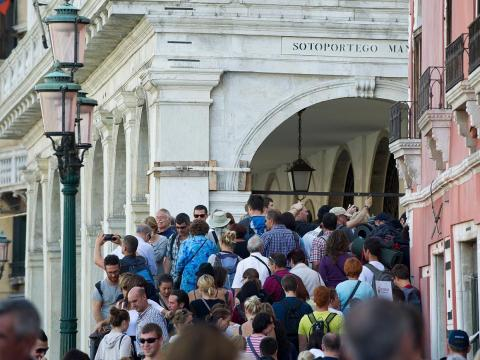 Venice has taken measures to try to limit the overflow of tourists.