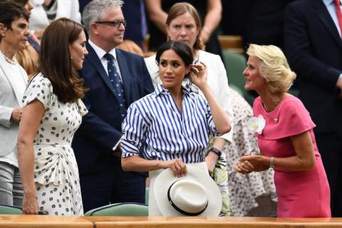 Meghan Markle y Kate Middleton en Wimbledon.