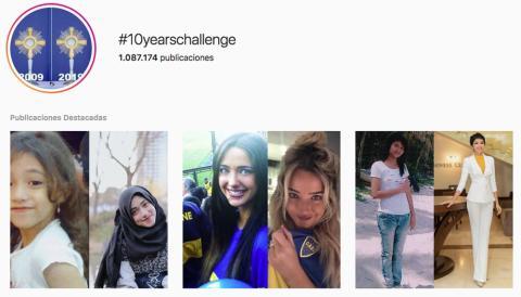 10 years challenge, el último reto viral de Instagram, Facebook y Twiiter