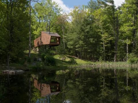 """3. A los seguidores de Instagram de Airbnb también les encantó la """"Willow Treehouse"""" en Willow, Nueva York."""