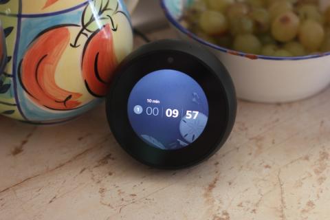 Amazon Echo Spot temporizador