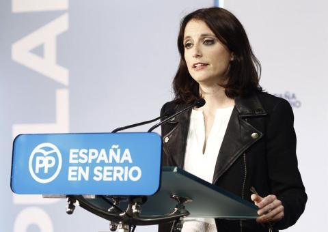 Andrea Levy en un acto del PP.
