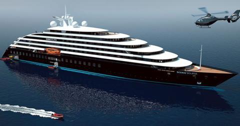 Imagen de maqueta del barco de Scenic.