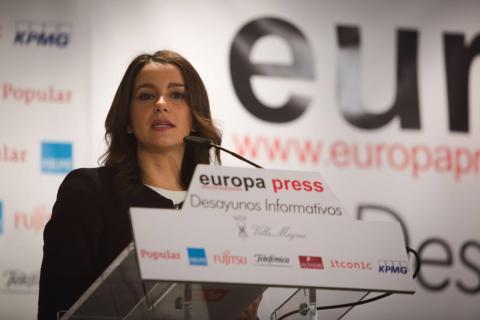 Inés Arrimadas, en un acto de Europa Press.