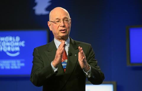 Klaus Schwab en una reunión del World Economic Forum en 2011.