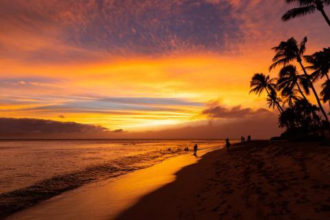 La playa de Kaanapali, en Maui