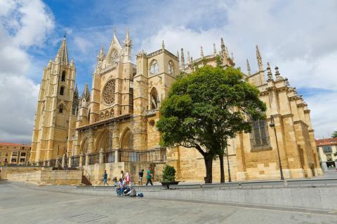 La catedral de León (Castilla y León).