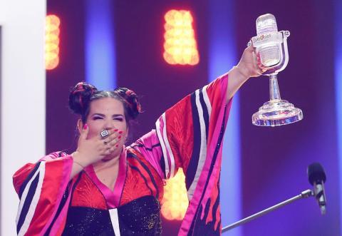 Netta Barzilai de Israel, ganadora de Eurovisión 2018.