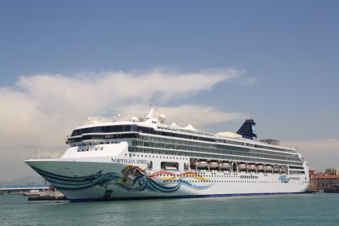 Uno de los barcos de Norwegian Cruise Line.