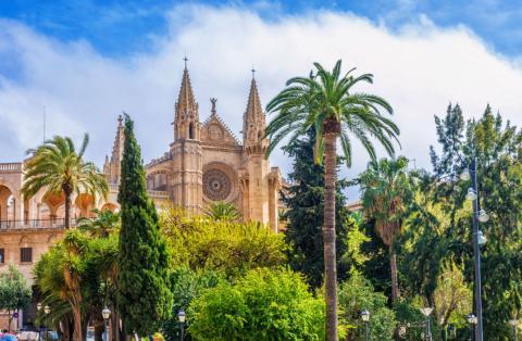 Una imagen de la catedral de Palma de Mallorca (Baleares).