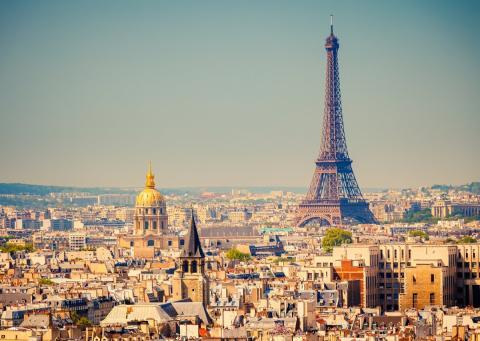 París, con la Torre Eiffel al fondo