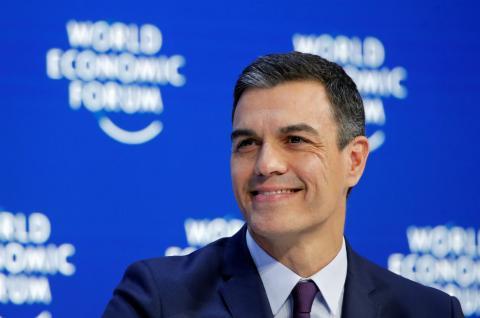 Pedro Sánchez, en el foro de Davos