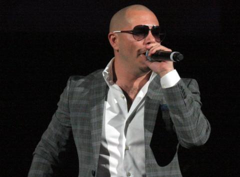 Pitbull, durante un concierto.