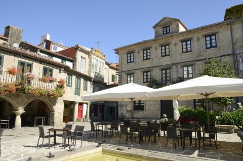 Una plaza en Pontevedra.