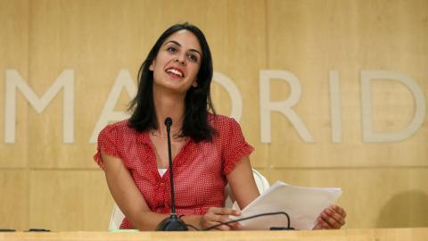 Rita Maestre, en el Ayuntamiento de Madrid.