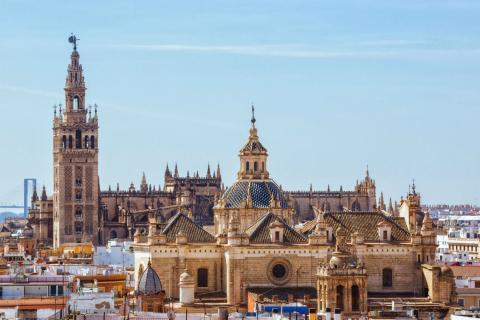 Torre Giralda en la Catedral de Sevilla.