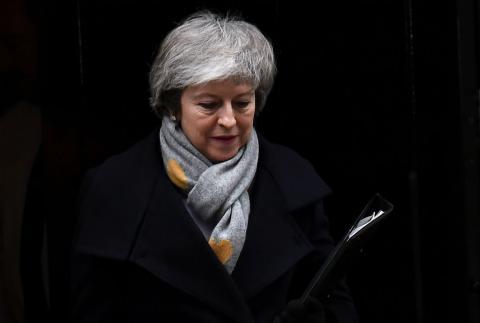 Theresa May, a la salida de Downing Street