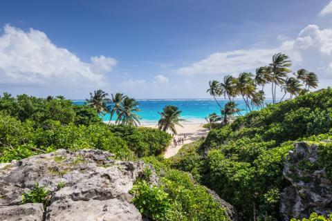 Una playa de las Bahamas.