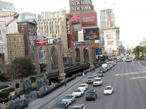 "According to many tourists, Las Vegas Boulevard (otherwise known as ""The Strip"") is not as walkable as it's made out to be ..."