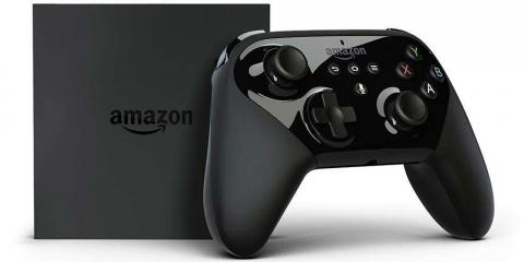 Amazon's Fire TV and the Amazon Fire TV gaming controller.