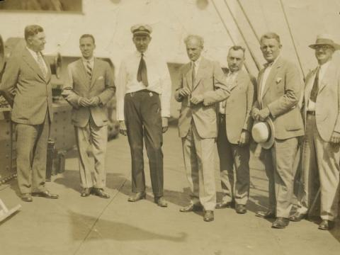 And in 1928, he sent his delegates with supplies to the South American country to oversee operations of the plantation.