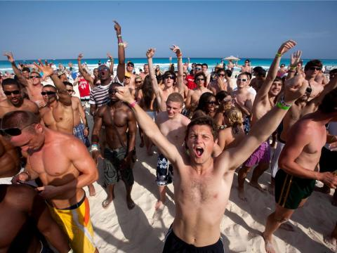 … and was notorious for its wild beach parties.
