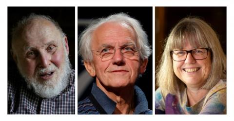 Arthur Ashkin (far left) won half of the 2018 Nobel Prize in physics. The other half was split between Gerard Mourou of France (center) and Donna Strickland of Canada (right), who became the third woman awarded the physics prize