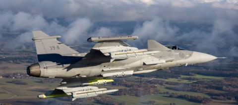 Avión militar de Saab