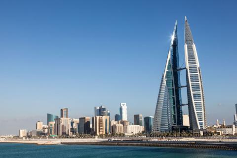 Los rascacielos de la capital de Bahrein, Manama