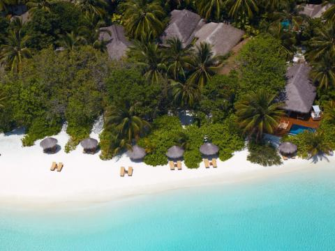 """Baros Maldives, a luxury retreat on an island in the Indian Ocean, has won """"World's Most Romantic Resort"""" for the fourth time in a row, and the sixth time overall. It has garnered the honor from World Travel Awards almost every"""