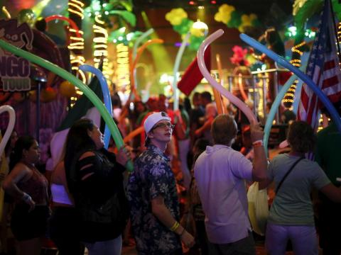 Bars and clubs are sometimes packed with tourists.
