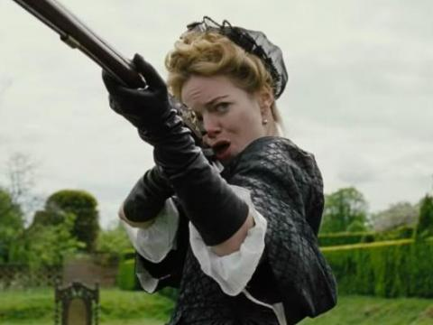 "Emma Stone in ""The Favourite."""