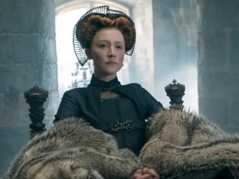 "Saoirse Ronan and Margot Robbie star in ""Mary Queen of Scots."""