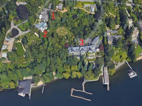 Bezos en 1998 pagó 10 millones de dólares por la propiedad, que abarca 22 hectáreas e incluye una casa de 1.900 metroscuadrados, más una segunda vivienda de 770 metros cuadrados.
