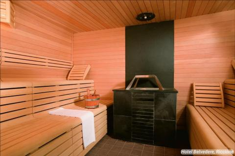 """A """"bio-sauna"""" is also available for visitors to relax in."""