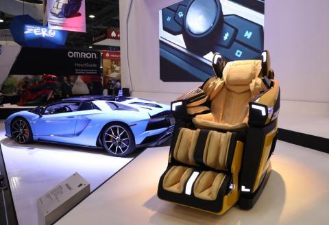 The Bodyfriend LBF-750 is a Lamborghini-themed massage chair.